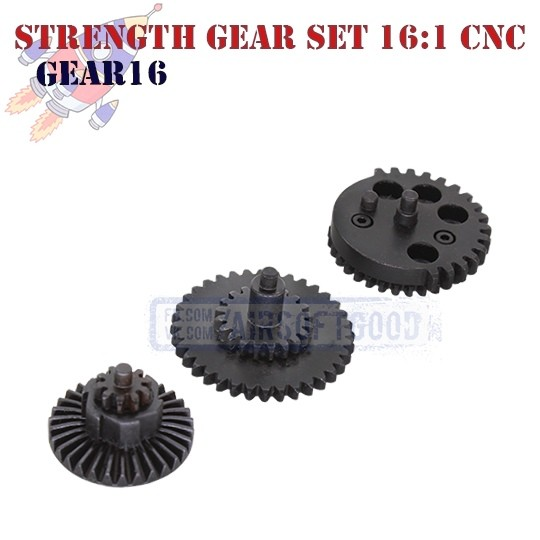 Strength Gear Set Speed 16:1 CNC ROCKET (GEAR16)