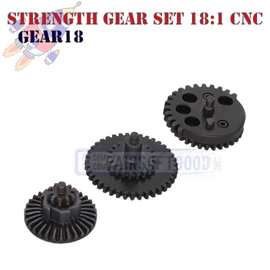 Strength Gear Set Standart 18:1 CNC ROCKET (GEAR18)