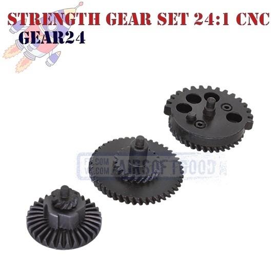 Strength Gear Set Torque 24:1 100:200 CNC ROCKET (GEAR24)