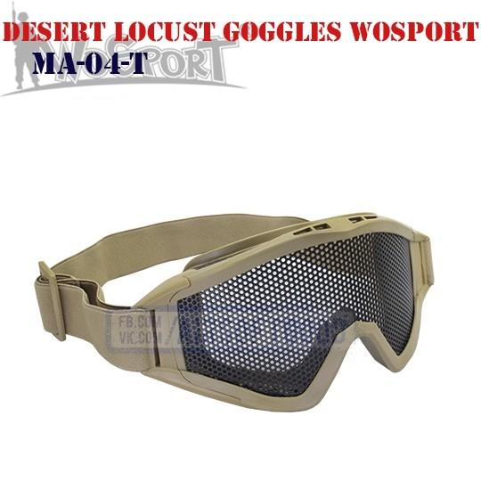 Tactical Desert Locust Goggles TAN WoSporT (MA-04-T)
