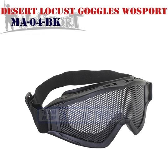 Tactical Desert Locust Goggles WoSporT (MA-04-BK)