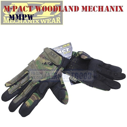 Tactical Gloves M-Pact Woodland Camo Old-Version Mechanix (MMPW)