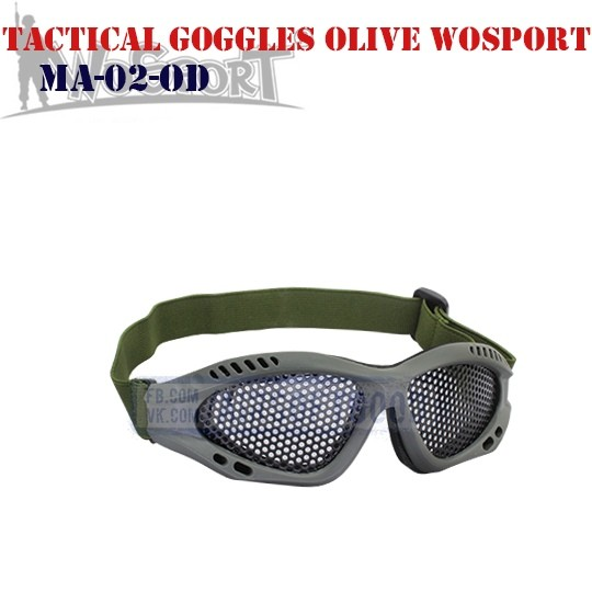 Tactical Goggles Olive WoSporT (MA-02-OD)