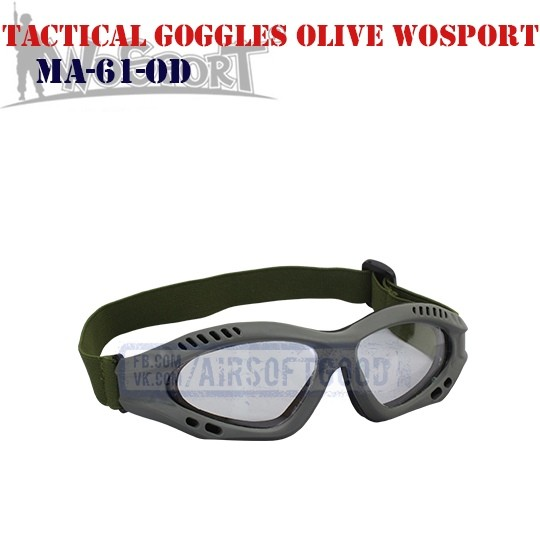 Tactical Goggles Protective Olive WoSporT (MA-61-OD)