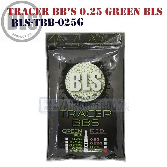 Tracer BB's High Precision 0.25 грамм Green 1кг BLS (BLS-TBB-025G)