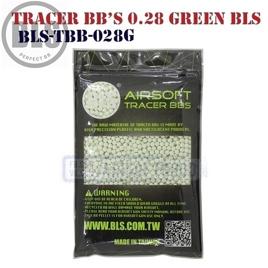 Tracer BB's High Precision 0.28 грамм Green 1кг BLS (BLS-TBB-028G)
