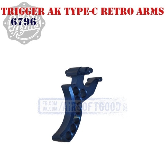 Trigger AK Type-C Blue CNC Retro Arms (6796)