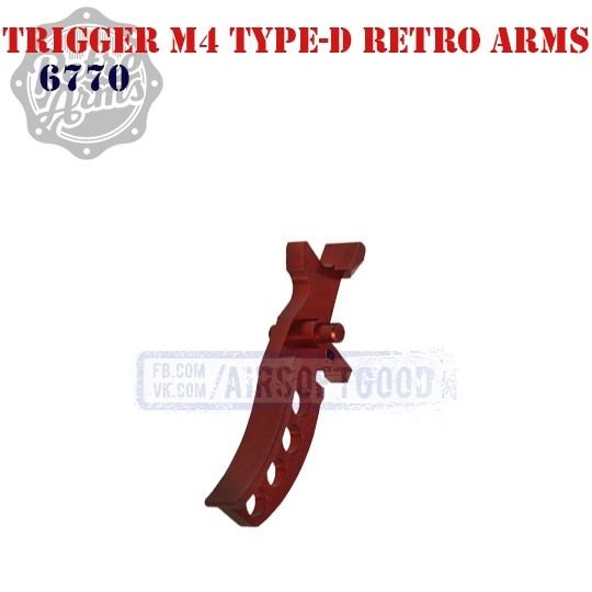 Trigger M4 Type-D Red CNC Retro Arms (6770)