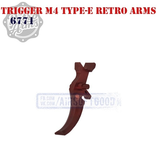 Trigger M4 Type-E Red CNC Retro Arms (6771)