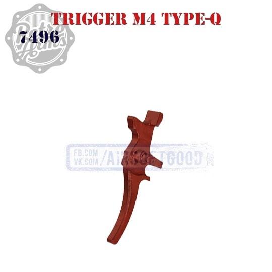 Trigger M4 Type-Q Red CNC Retro Arms (7496)
