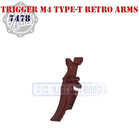 Trigger M4 Type-T Red CNC Retro Arms (7478)