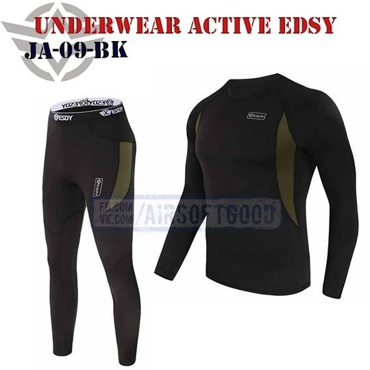 Underwear Active Black ESDY (JA-09-BK)