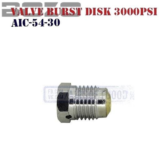 Valve Burst Disk 3000PSi HPA BOZO (AIC-54-30)