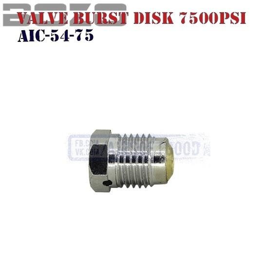 Valve Burst Disk 7500PSi HPA BOZO (AIC-54-75)