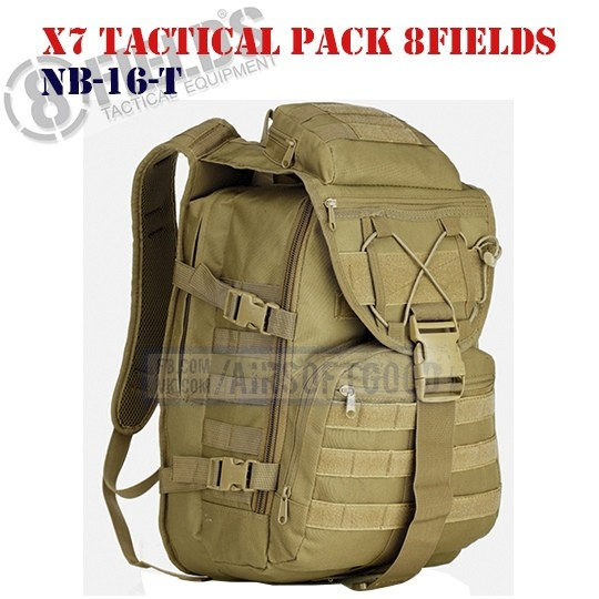 X7 Tactical BackPack TAN 8FIELDS (NB-16-T)