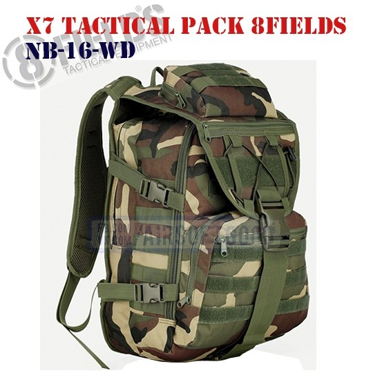 X7 Tactical BackPack Woodland 8FIELDS (NB-16-WD)