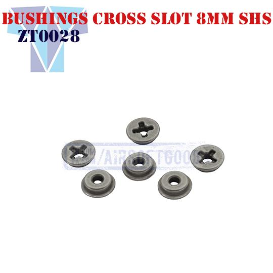 Oiless Bushings Cross Slot 8mm SHS (ZT0028)