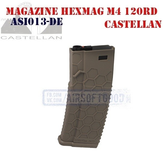 Magazine MagHex M4 AR-15 120rd DE CASTELLAN (ASI013-DE)