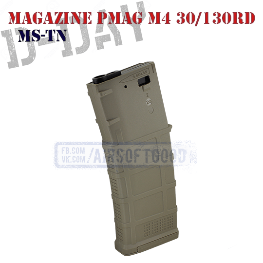 Magazine PMAG GEN3 M4 30/130rd FDE D-DAY MS-TN