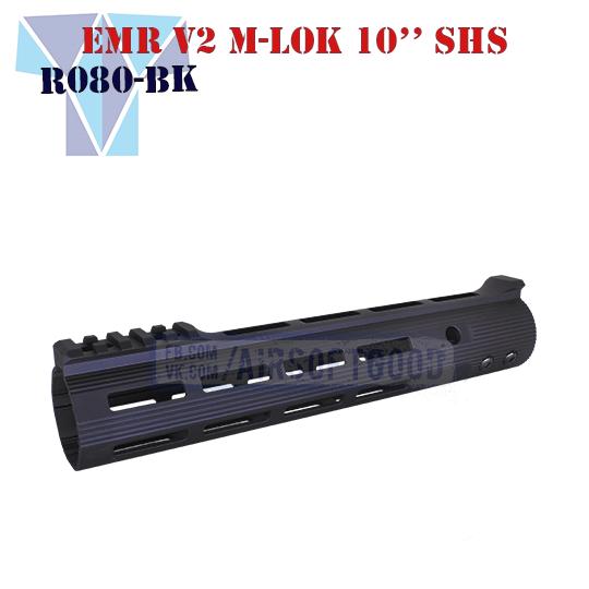 """ALG DEFENSE V2 M-LOK ERGONOMIC MODULAR RAIL 10"""" SHS (AS.R080-BK)"""