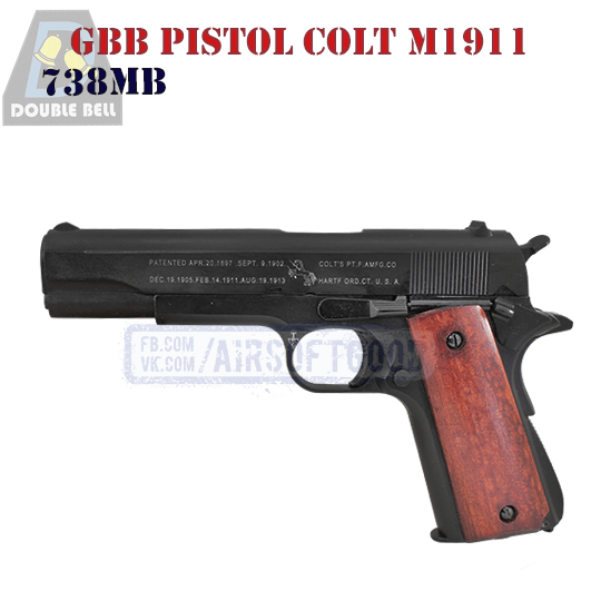 GBB Pistol Colt M1911 DOUBLE BELL 738MB