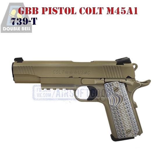 GBB Pistol Colt M45A1 DOUBLE BELL 739-T