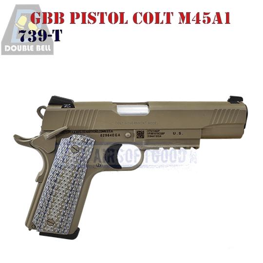 GBB Pistol Colt M45A1 TAN DOUBLE BELL (739-T)