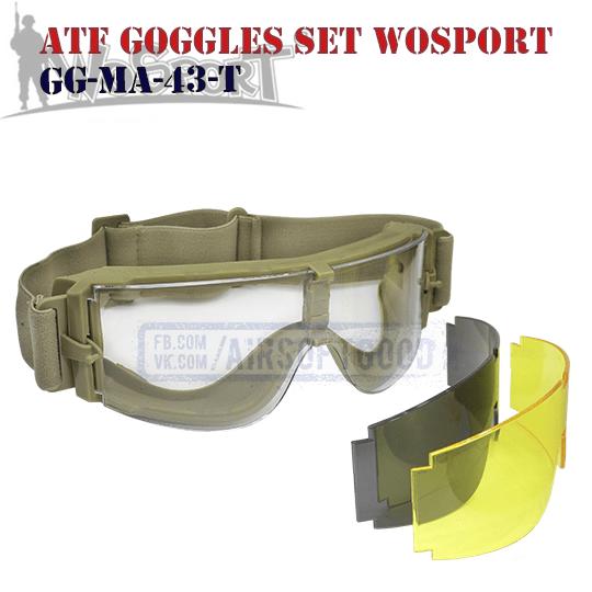 Goggles ATF Set TAN WoSporT (GG-MA-43-T)