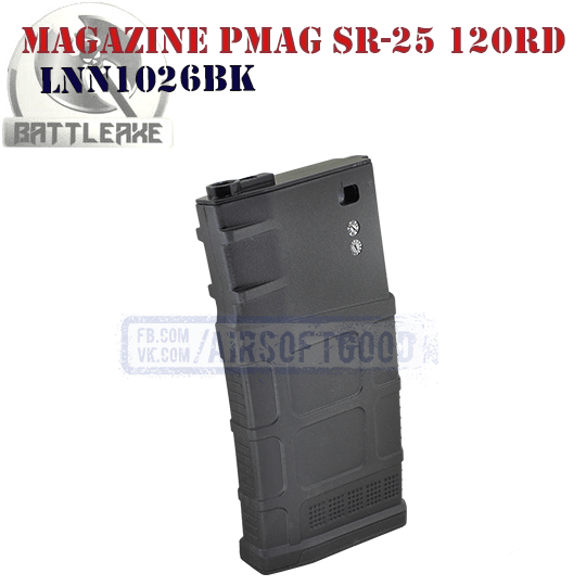 Magazine PMAG GEN M3 SR-25 120rd BATTLEAXE LNN1026BK