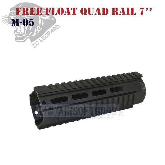 Handguard Free Float Quad Rail 7″ ZC Leopard (M-05)