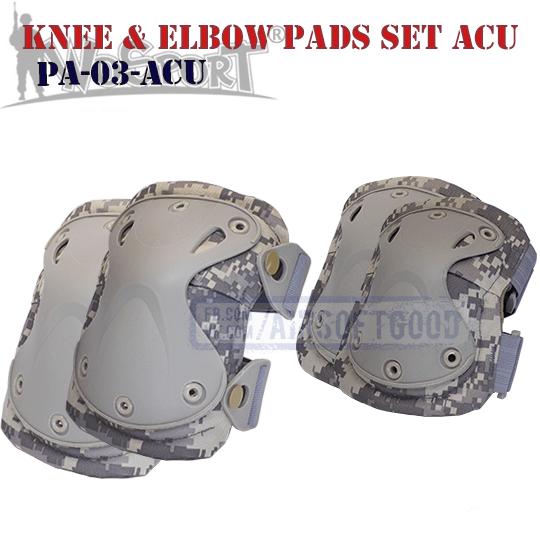 Knee & Elbow XTAK Pads Set ACU WoSporT Наколенники налокотники PA-03-ACU