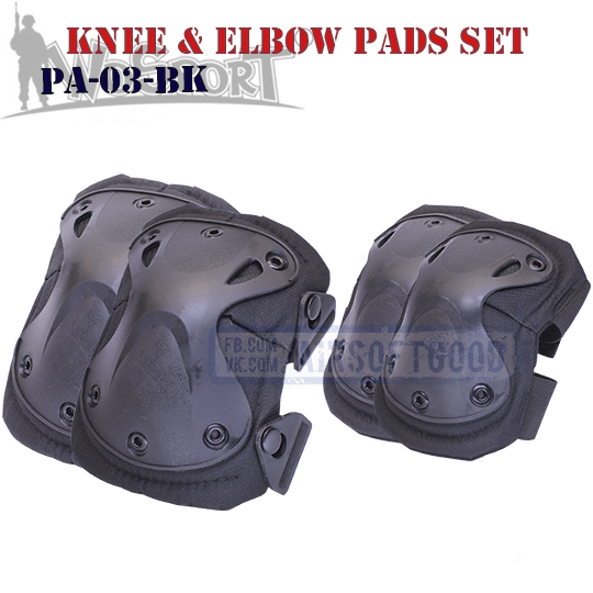 Knee & Elbow XTAK Pads Set Black WoSporT Наколенники X PA-03-BK