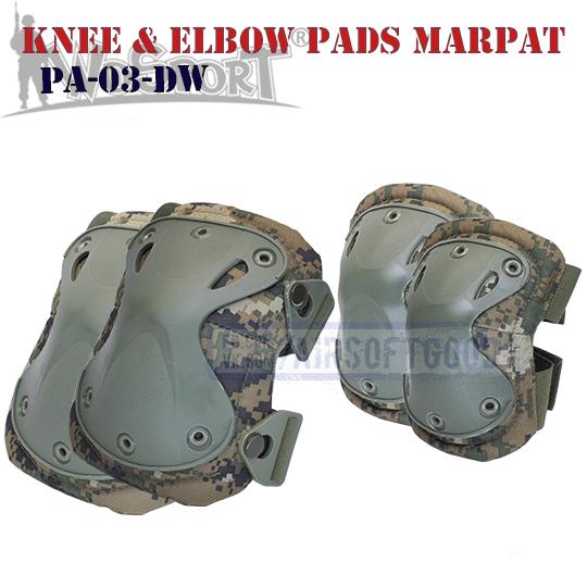 Knee & Elbow XTAK Pads Set MARPAT WoSporT yfrjktyybrb yfkjrjnybrb PA-03-DW