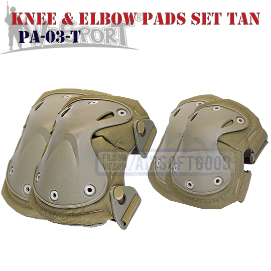Knee & Elbow XTAK Pads Set TAN WoSporT военные Наколенники PA-03-T