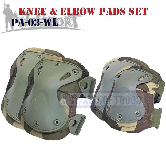 Knee & Elbow XTAK Pads Set Woodland WoSporT Наколенники вудланд PA-03-WL