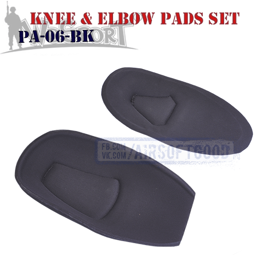 Knee & Elbow COMBAT G2 Pads Set Black WoSporT PA-06-BK