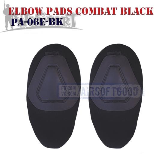 Elbow COMBAT G2 Pads Black WoSporT PA-06E-BK