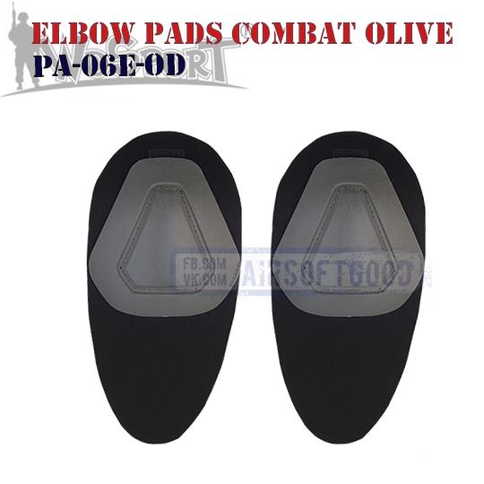 Elbow COMBAT G2 Pads Olive WoSporT PA-06E-OD тактические налокотники