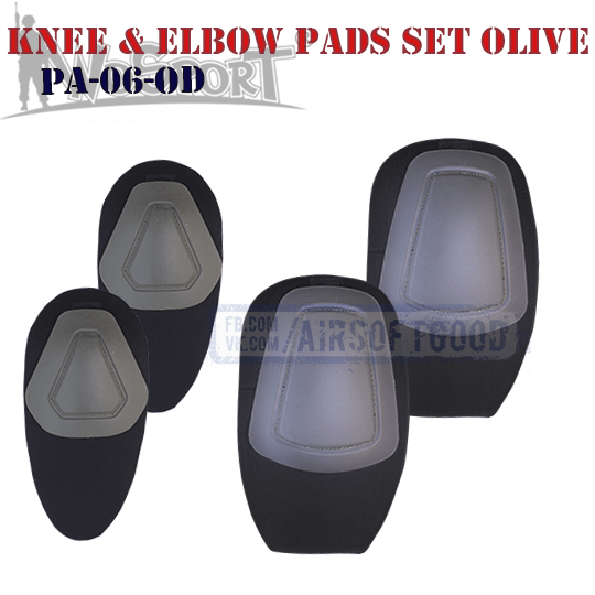 Knee & Elbow COMBAT G2 Pads Set Olive WoSporT PA-06-OD