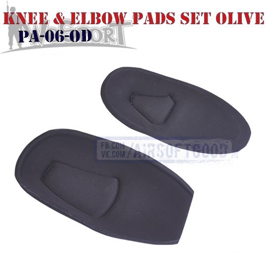 Knee & Elbow COMBAT G2 Pads Set Olive WoSporT PA-06-OD наколенники налокотники