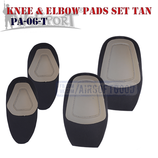 Knee & Elbow COMBAT G2 Pads Set TAN WoSporT PA-06-T тактические наколенники