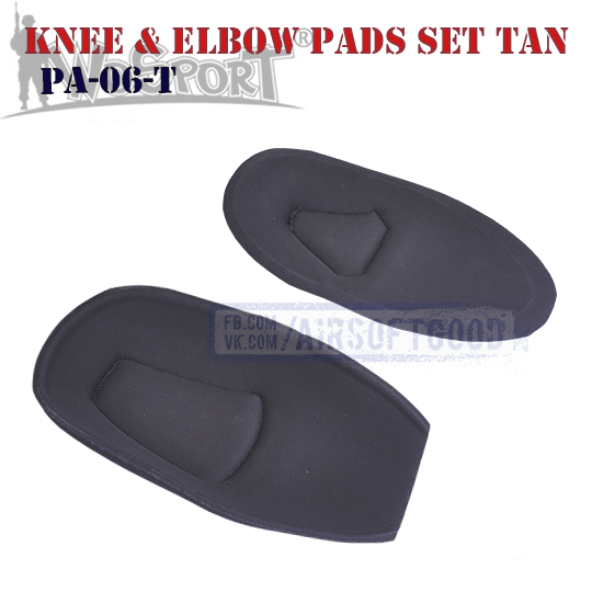 Knee & Elbow COMBAT G2 Pads Set TAN WoSporT (PA-06-T)