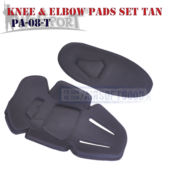 Knee & Elbow COMBAT Pads Set Olive WoSporT (PA-08-OD)