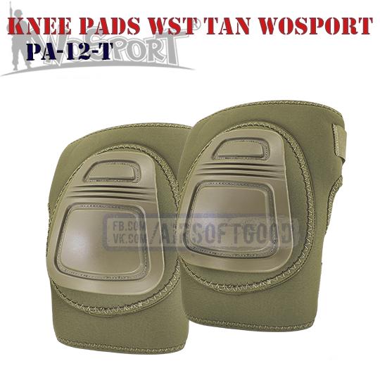 Knee Pads WST COMBAT TAN WoSporT Наколенники PA-12-T