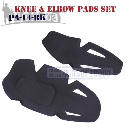 Knee & Elbow IMPACT COMBAT Pads Set Black WoSporT Gen4 PA-14-BK защитные наколенники