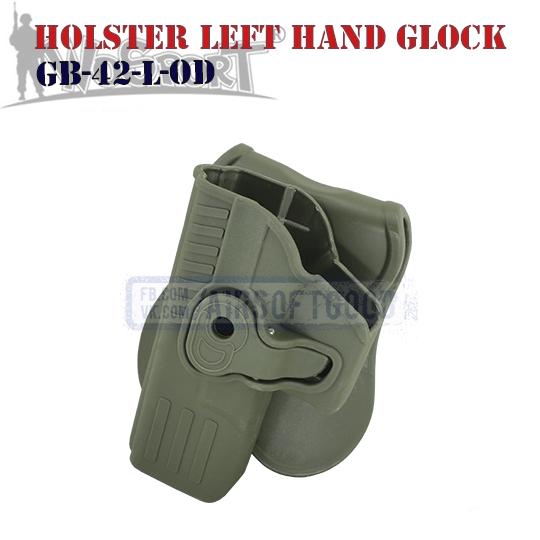 Holster Left Hand Quick Pull GLOCK Olive WoSporT кобура для левши GB-42-L-OD