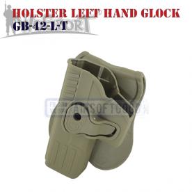 Holster Left Hand Quick Pull GLOCK TAN WoSporT тактическая экипировка GB-42-L-T