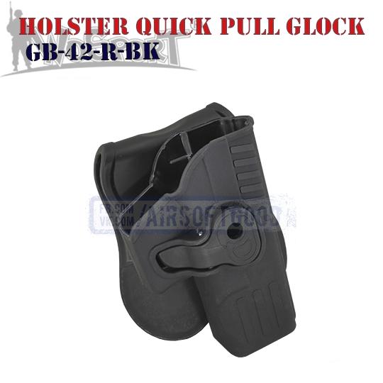 Holster Quick Pull GLOCK WoSporT кобура пластиковая GB-42-R-BK