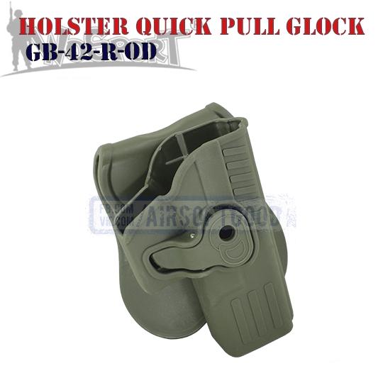 Holster Quick Pull GLOCK Olive WoSporT тактическая кобура олива GB-42-R-OD
