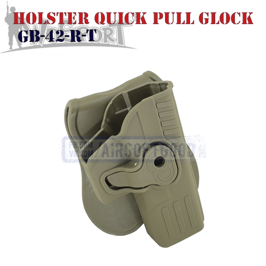 Holster Quick Pull GLOCK TAN WoSporT кобура для тактической стрельбы ТАН GB-42-R-T